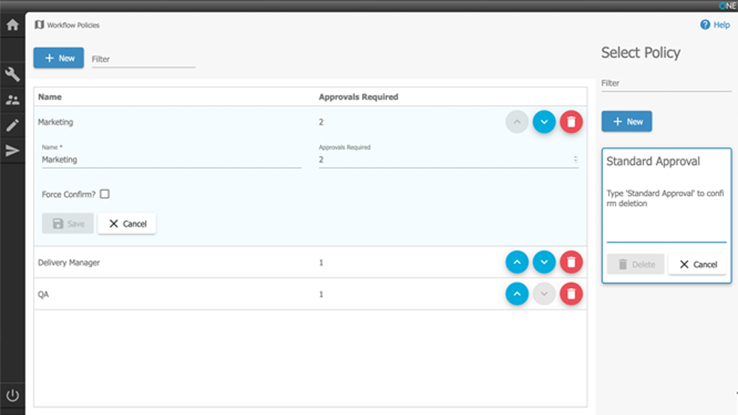 A screenshot of Forrit's Custom Workflow generator, which empowers you to streamline your processes.